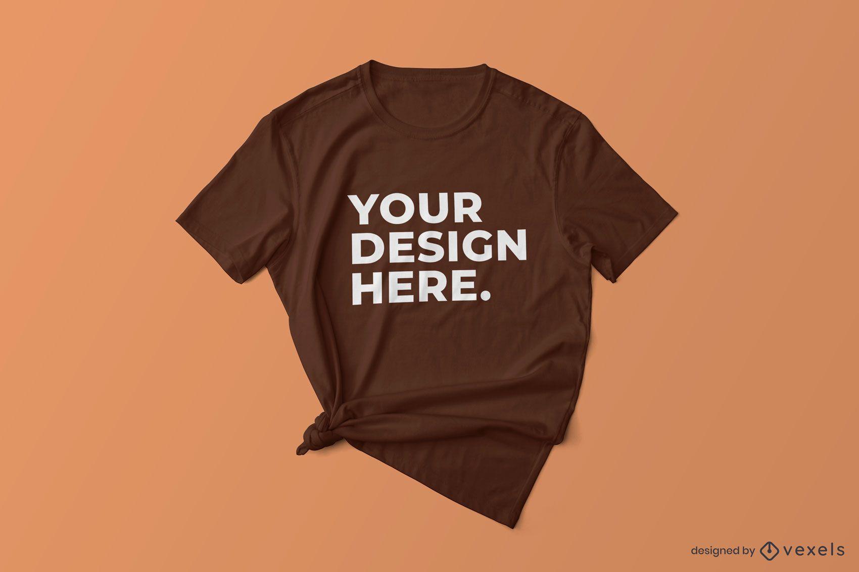 Knotted t-shirt mockup design