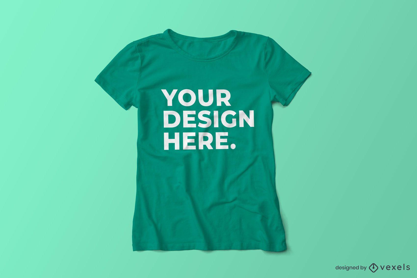 T-Shirt-Modell mit Rundhalsausschnitt