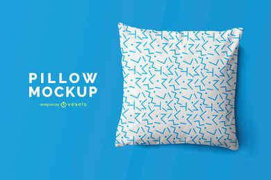 Throw pillow mockup design