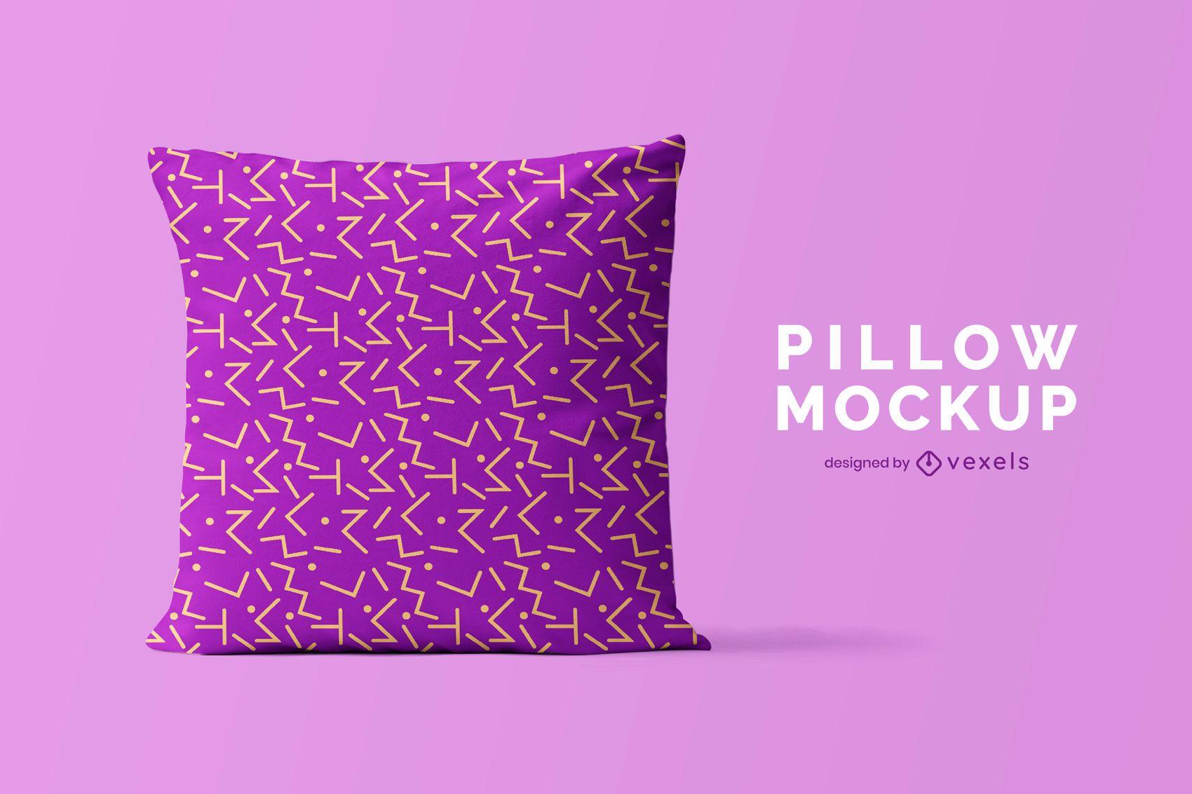 Diseño de maqueta de almohada psd