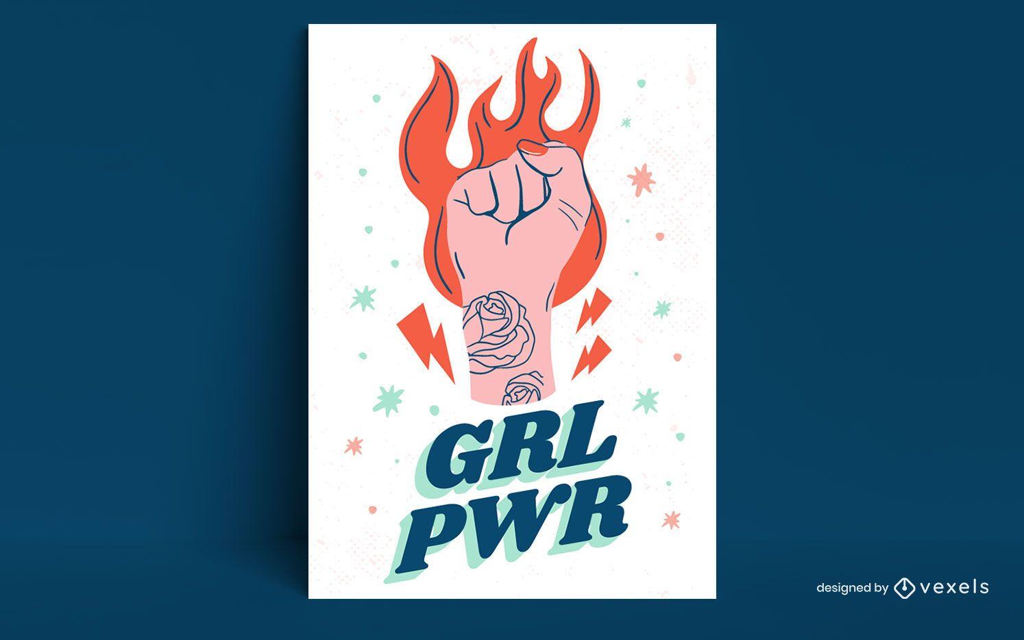 Diseño de cartel grl pwr
