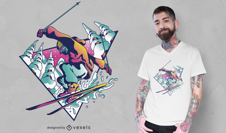 Ski guy t-shirt design