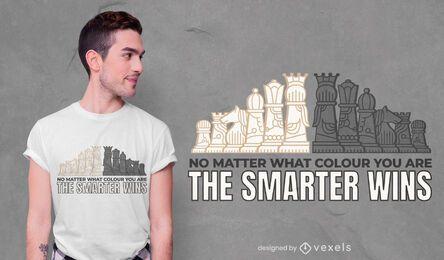 Design de camiseta inteligente de xadrez