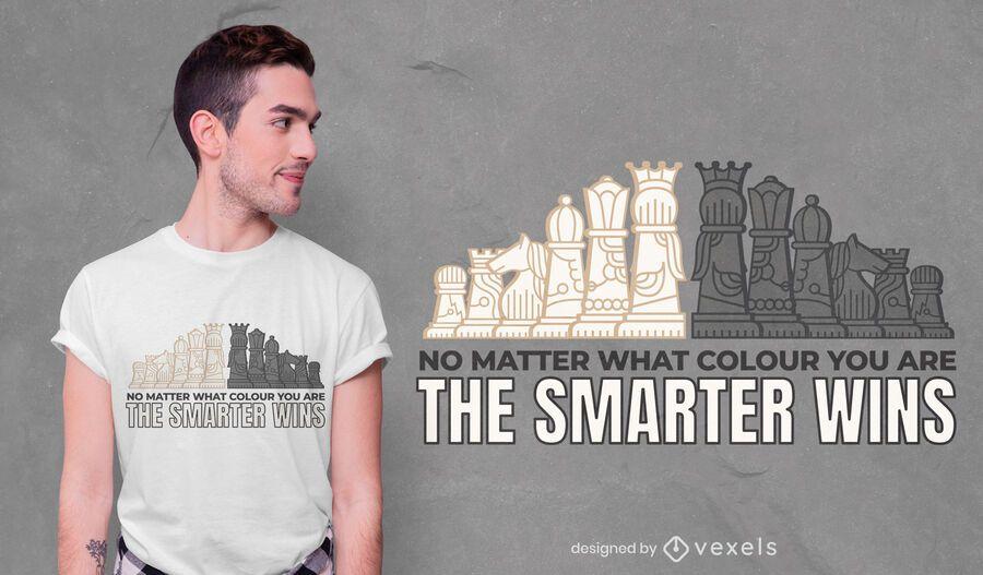 Schach Smart T-Shirt Design