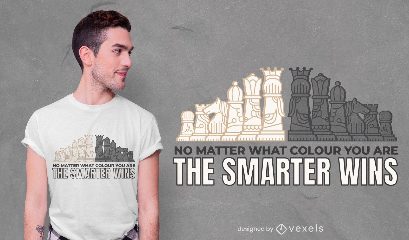 Chess smart t-shirt design