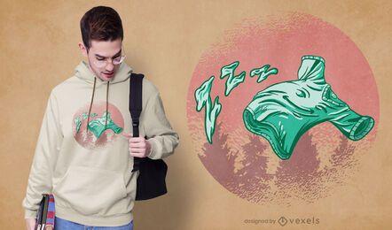 Diseño de camiseta de camisa voladora