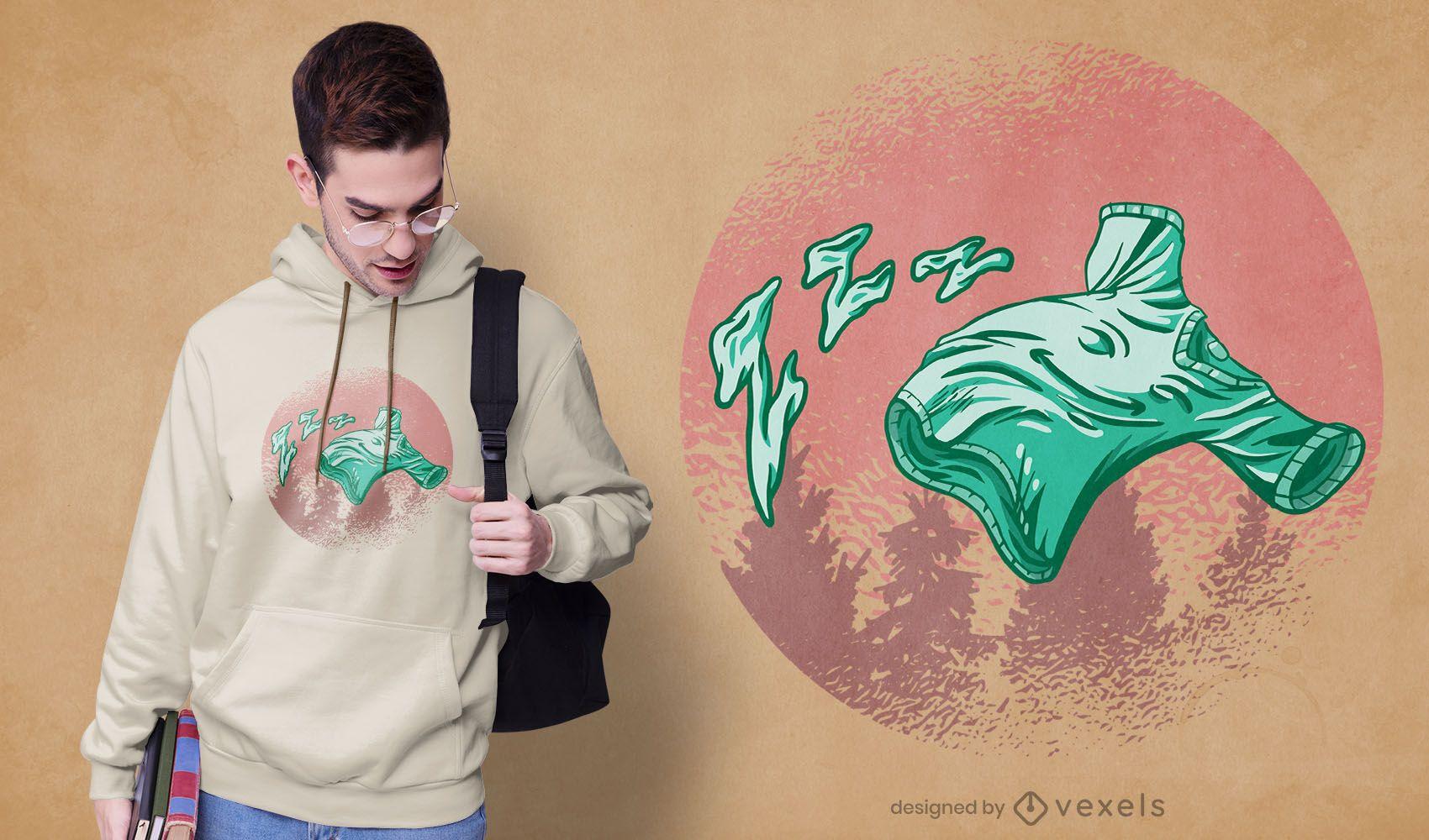 Fliegendes Hemd T-Shirt Design