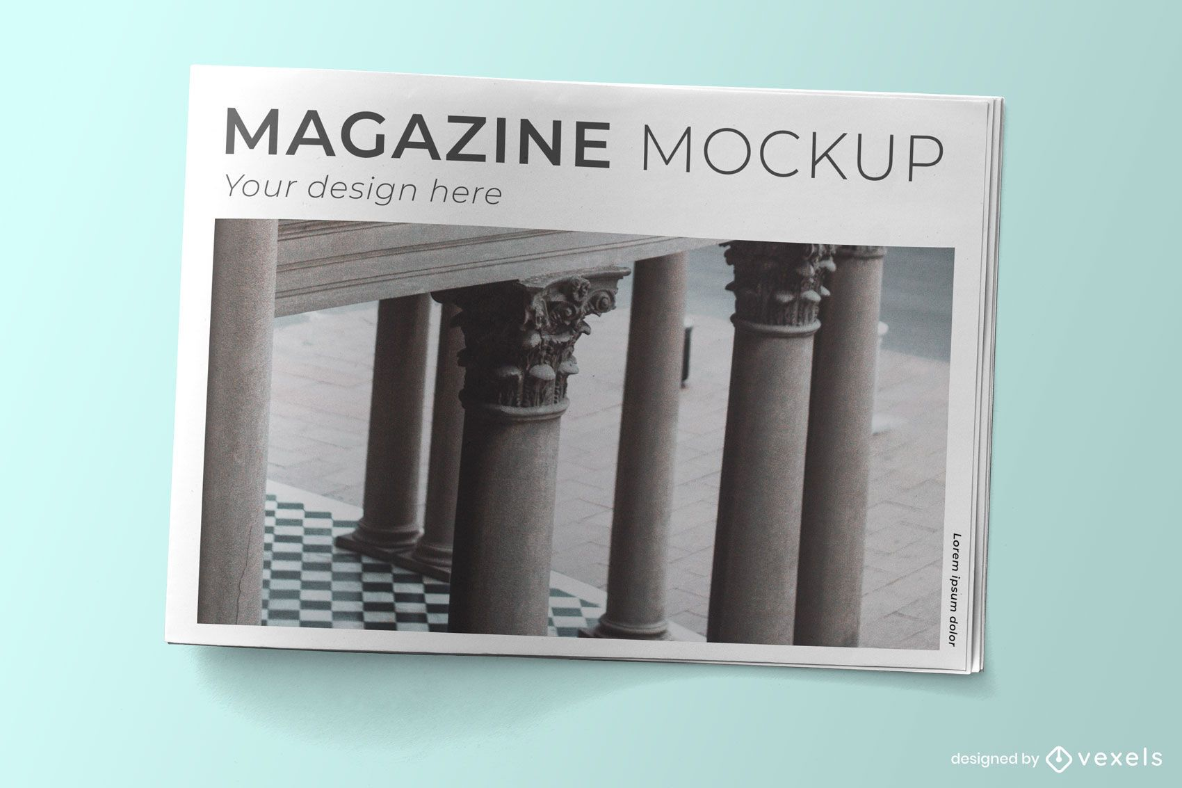 Magazin Cover Psd Mockup Design