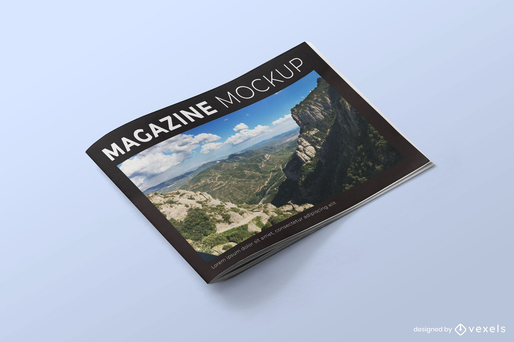 Horizontal magazine mockup design