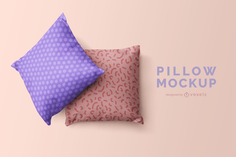 Throw pillows mock up design