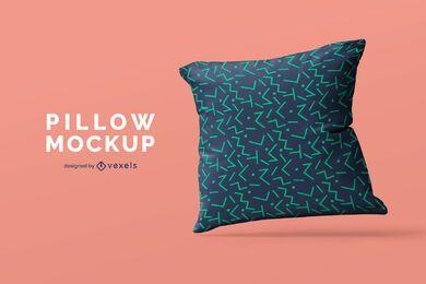 Diseño de maqueta de almohada individual