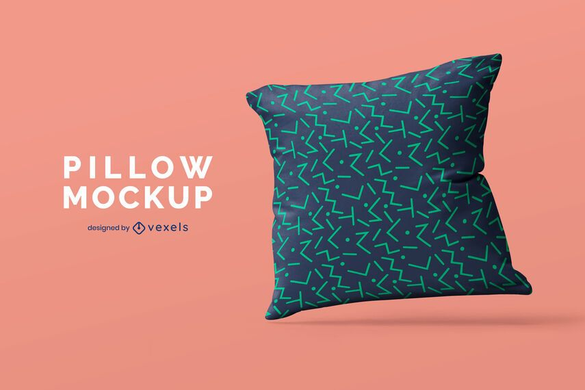 Single pillow mockup design