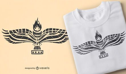 Diseño de camiseta de bandera aramea