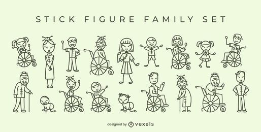 Chinese family stick figures