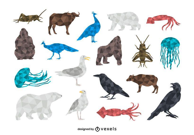 Animals low poly set