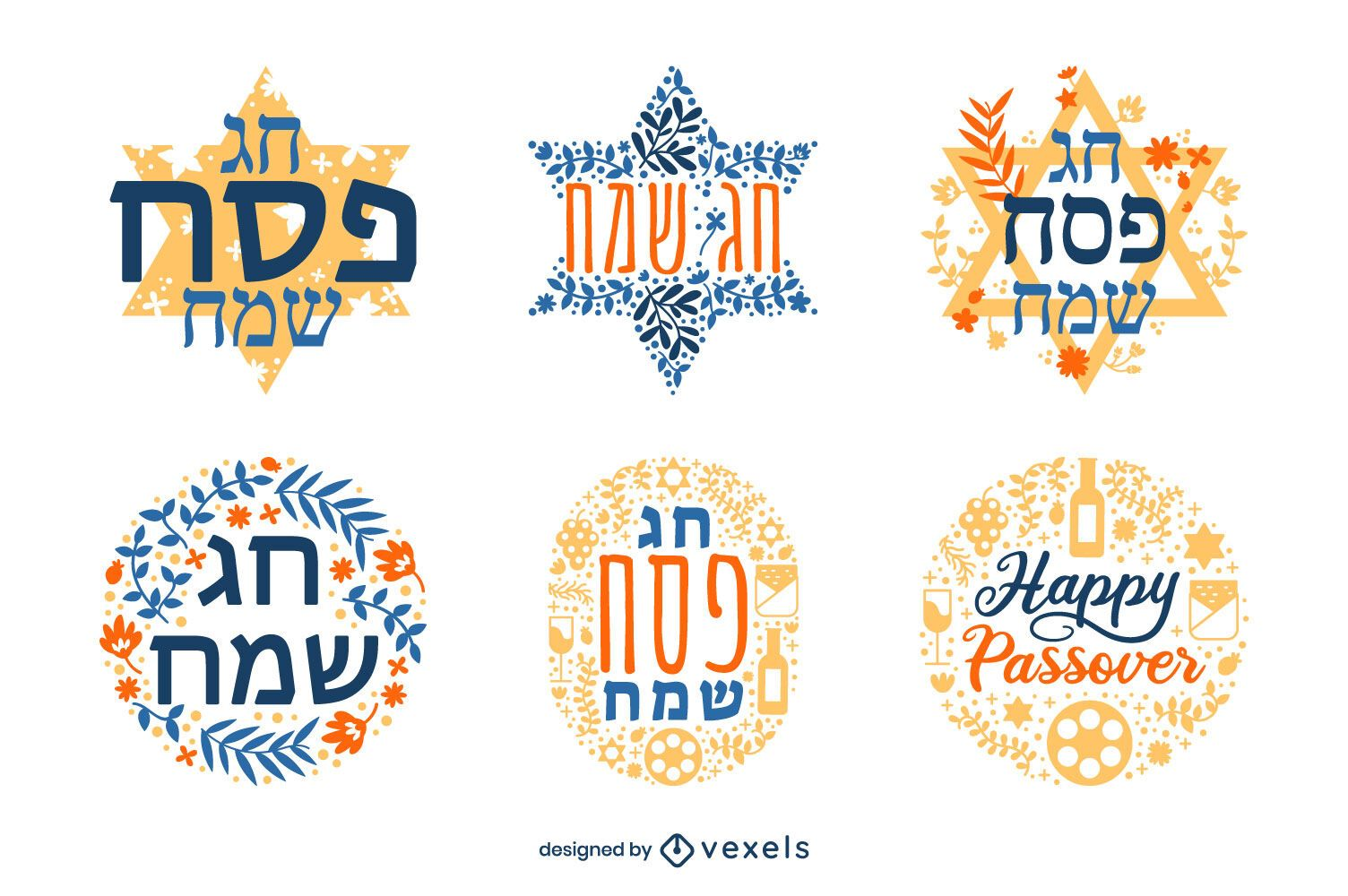Passover badge set