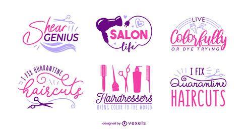 Conjunto de letras de peluquería
