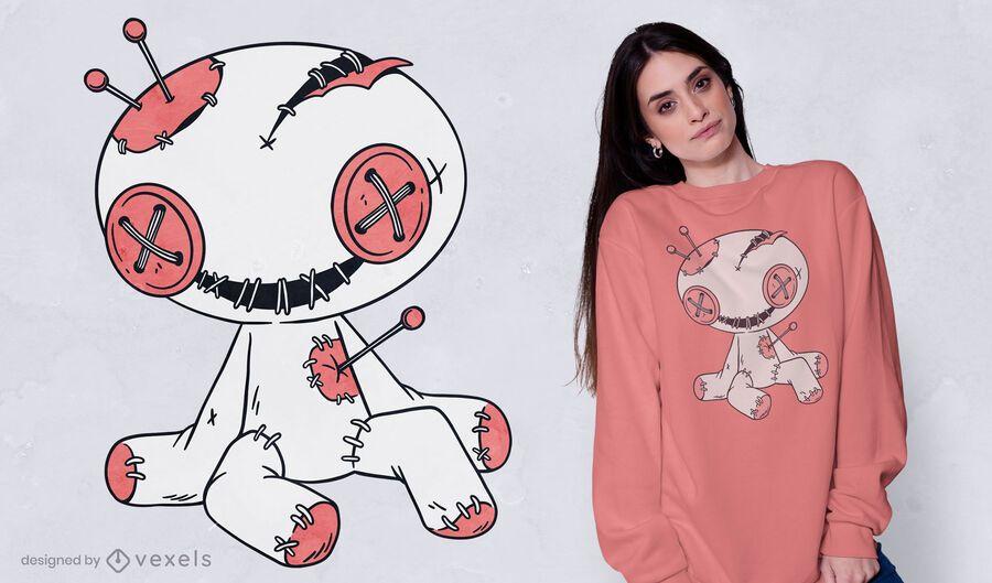 Design de camiseta com boneca vodu