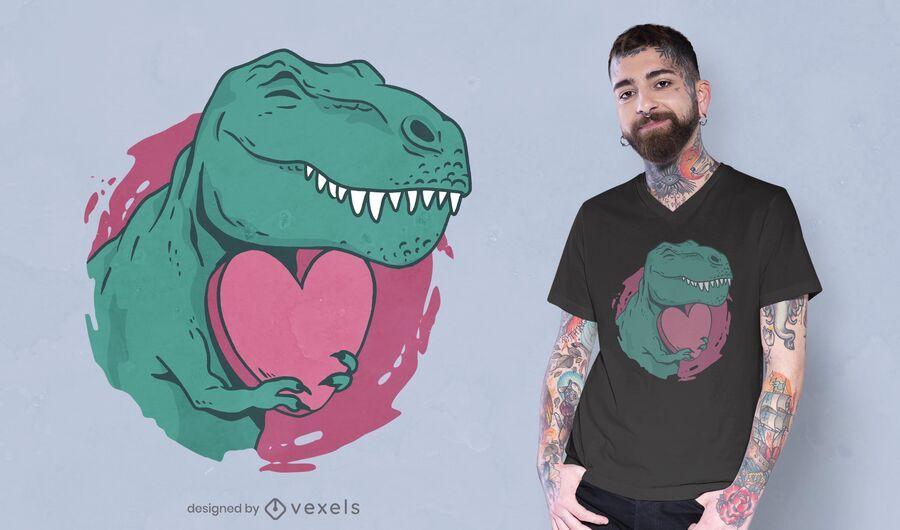 Design de t-shirt dos namorados T-Rex
