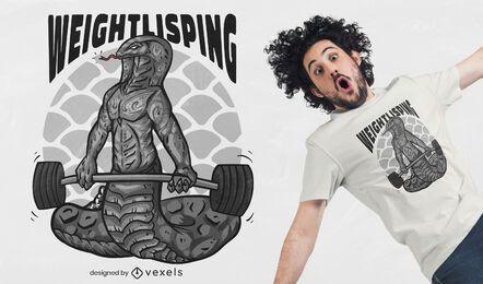 Diseño de camiseta de pesas