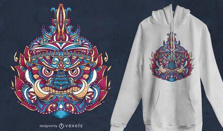 Design de camisetas tribais da Tailândia Yaksha