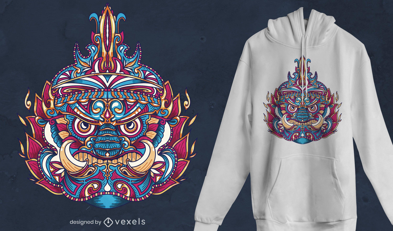Diseño de camiseta Tribal Thai Yaksha