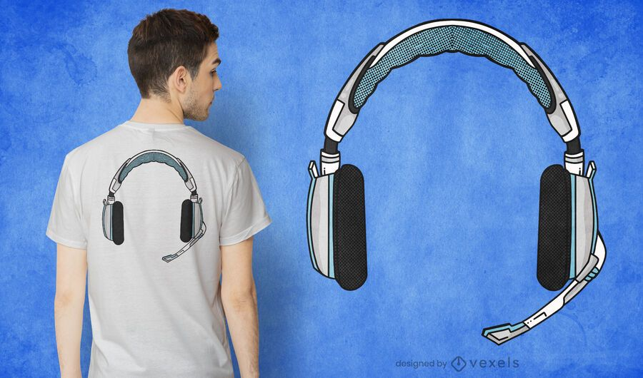 Gamer headphone t-shirt design