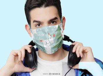 Design de máscara facial para animais de natal