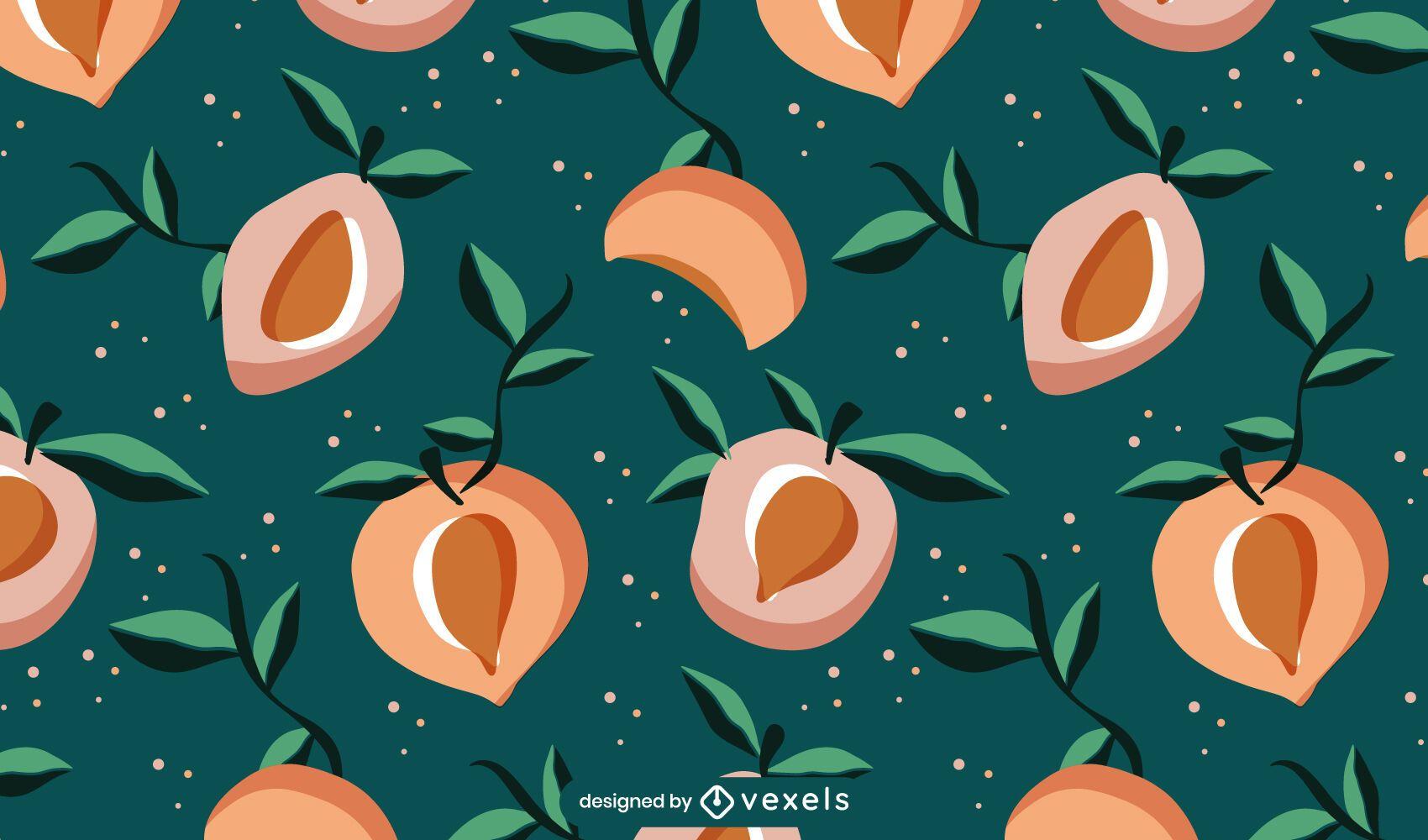 Peaches pattern design