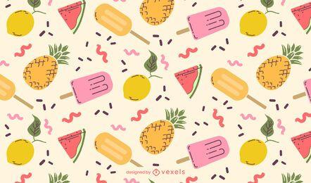 Projeto de padrão de comida de verão