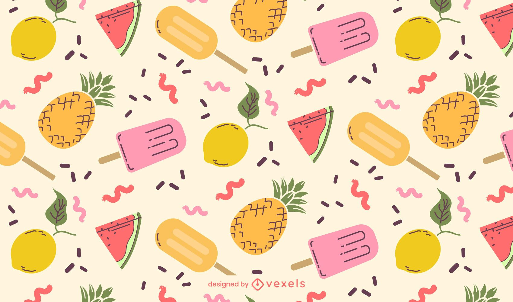 Diseño de patrón de comida de verano