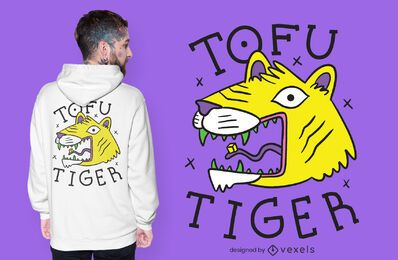 Diseño de camiseta tofu tiger