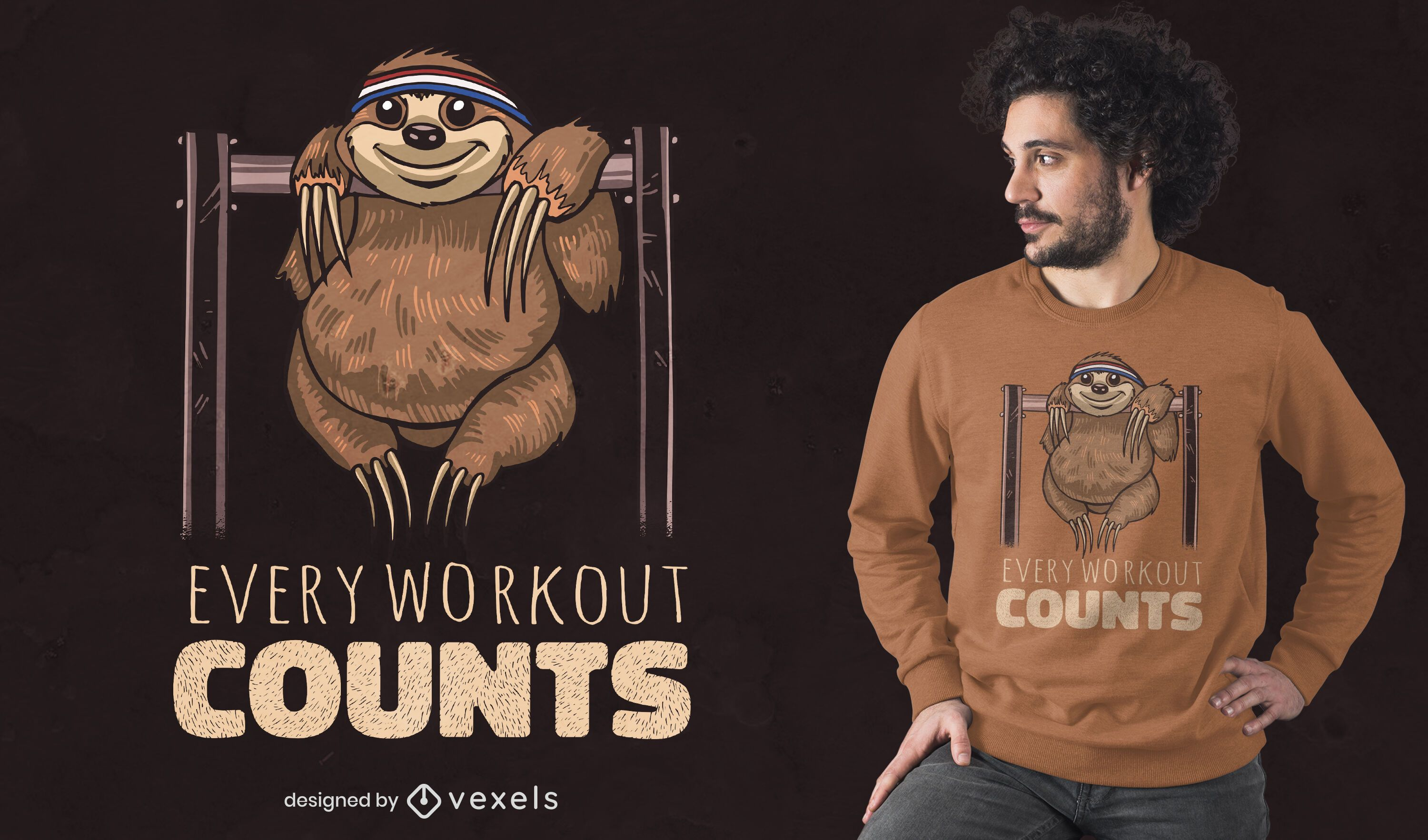 Every workout counts t-shirt design