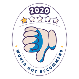 2020 would not recommend badge