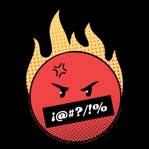 Angry flaming emoji