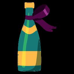 Bottle of champagne illustration
