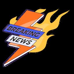 Breaking news on fire