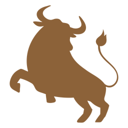 Bull jumping silhouette