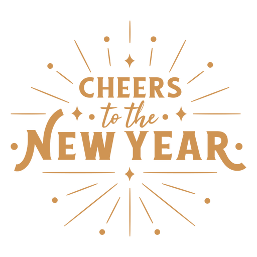 Cheers new year lettering