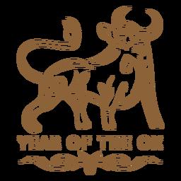 Distintivo de ano novo chinês