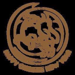 Insignia de buey de año nuevo chino