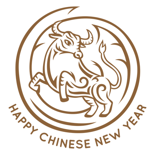 Chinese new year ox badge Transparent PNG