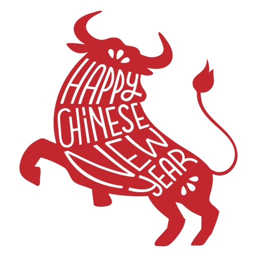 Chinese new year ox cut out