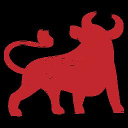 Chinese new year ox papercut