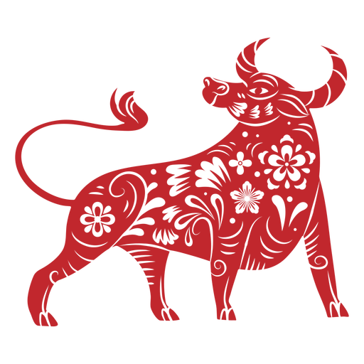Chinese new year ox papercut Transparent PNG