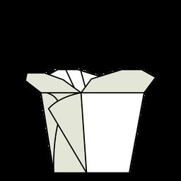 Ilustração de caixa de comida chinesa