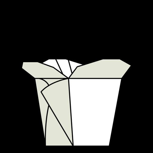 Ilustración de caja de comida para llevar china Transparent PNG