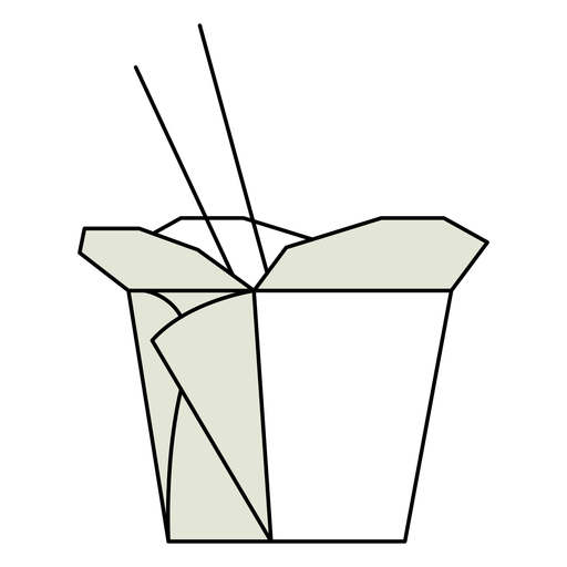 Ilustración de caja de comida para llevar china