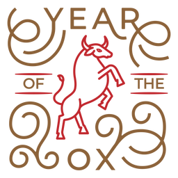 Chinese year of the ox badge