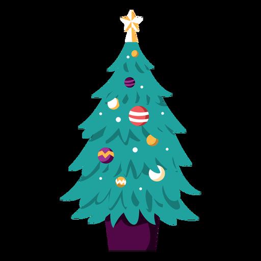 Christmas tree decorated illustration